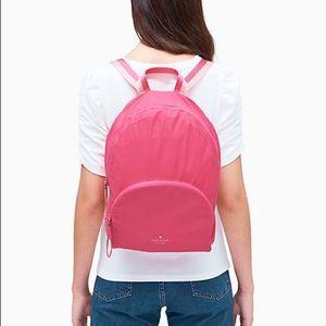 Kate Spade NY Arya Nylon Packable Backpack Magenta